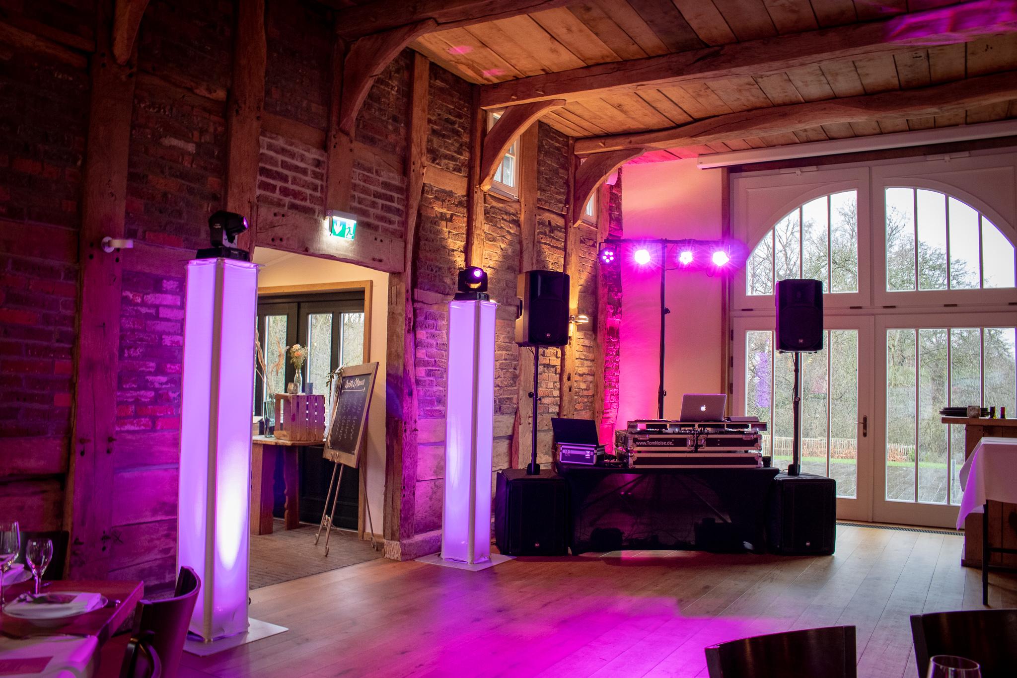 Premium Setup, Hochzeit bei von Laer in Herford